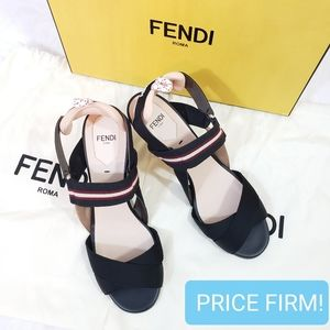 🎉SALE🎉 FENDI Technical Canvas Colibri Sandals